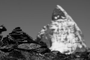 Matterhorn x 2 / Sicht vom Gornergrat auf das Materhorn