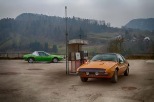 Zagato Aster Prototypen (Fiat 132 A1) von 1972 und 1973; Modell 1972 (grün): erste Einlösung 1973; Weber Doppelvergaser und Klimaanlage. Modell 1973 (orange): erste Einlösung 1974 mit dieser TO Nummer; zwei Weber Dopelvergaser.
