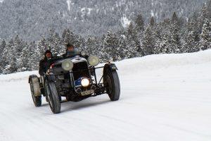 Lagonda M35 Le Mans Rapide / 4500 ccm (1934) – 10. WinterRAID 16. – 19. Januar 2013 vor dem Ofenpass