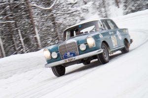 Mercedes-Benz 220 Sb / 2195 ccm (1964) – 10. WinterRAID 16. – 19. Januar 2013 auf dem Weg zum Ofenpass